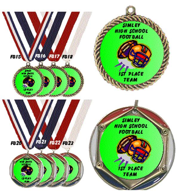 Football Medal with Neck Ribbon #FootballMedal